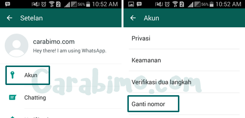 Cara Mengganti Nomor WhatsApp di HP Android