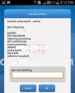 Masukan PIN SMS Banking
