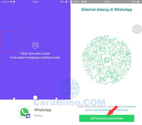 cara dual whatsapp android