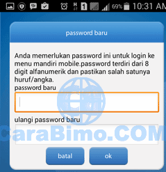 buat password