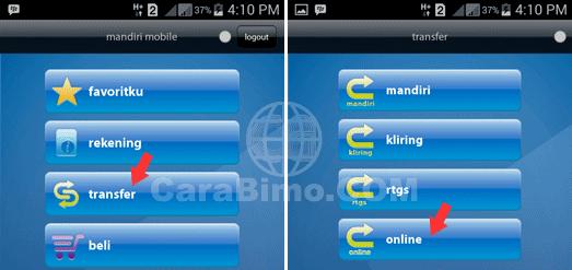 Cara Transfer Dari Mandiri ke Bank BJB Lewat Aplikasi Mandiri Mobile