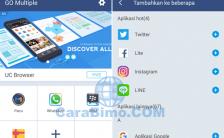 Go Multiple Aplikasi Untuk Buka 2 Akun Game, BBM dan WhatsApp di 1 HP Android