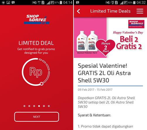 Tampilan dan Apa Saja Fitur Aplikasi Shop And Drive di Android