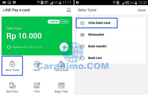 Cara Top Up Line Pay E-Cash