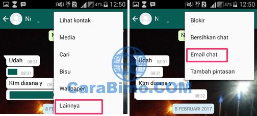 Bagaimana Cara Email Chat Whatsapp di Android?