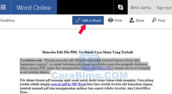 Mengedit File PDF Online