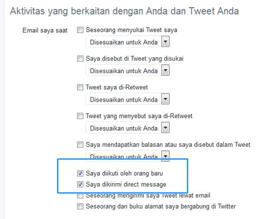 Berhenti Menerima Email Pemberitahuan Dari Twitter