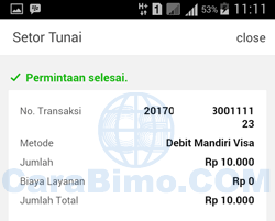 Sukses Top Up Line Pay E-Cash