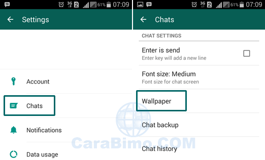 Cara Mengubah Wallpaper Chat WhatsApp