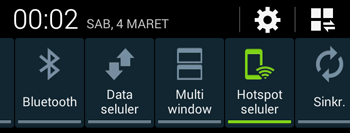 aktifkan hotspot seluler di HP