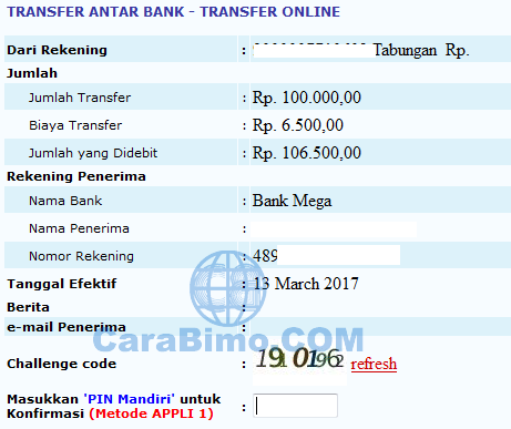 Bayar Secara Online via Internet Banking Mandiri