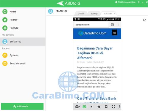 Kontrol HP Android Dari PC
