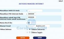 Cara Daftar dan Aktivasi Mandiri Internet Banking