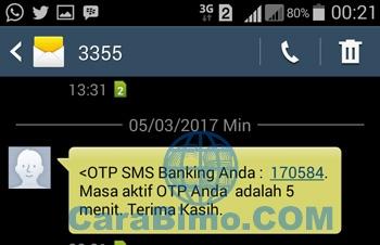 masukan 6 digit kode OTP