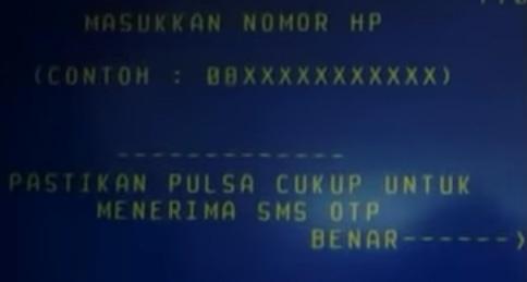 Masukan nomor HP