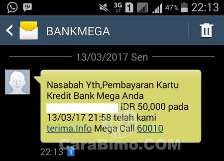 Pembayaran Kartu Kredit Mega Carrefour