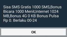 Cara Cek Sisa Kuota Paket Only For You IM3