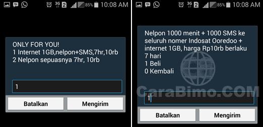 daftar paket Indosat Only For You 1GB