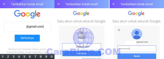 Masukan alamat email Gmail