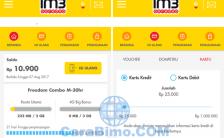 Cara Isi Pulsa Indosat Lewat Aplikasi myIM3 Pakai Kartu Kredit