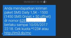 Mengirim Paket SMS atau Telepon Ke No Indosat Lain