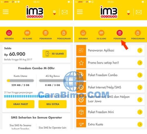 Cara Mengirim Kuota Indosat ke Nomor Lain Lewat Aplikasi MyIM3