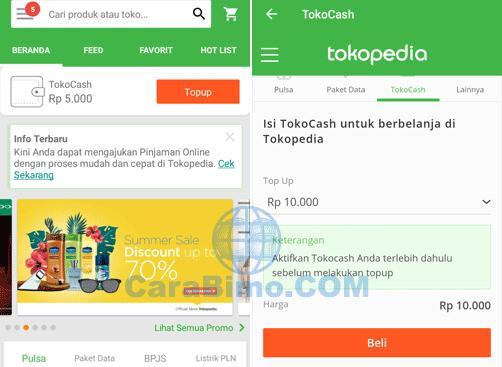 Top Up TokoCash Pakai Mandiri E-Cash
