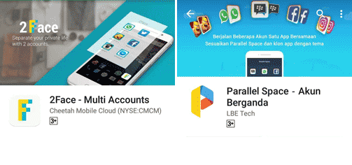 Perbandingan 2Face Multi Accounts VS Parallel Space