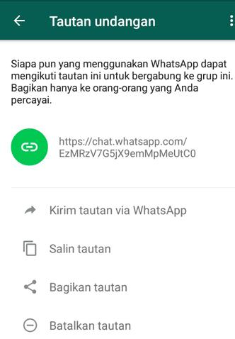 Undang Teman ke Grup WhatsApp Lewat Tautan