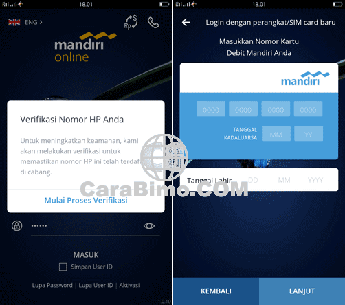 Penyebab Buka Aplikasi Mandiri Online Diminta Masukan No Kartu Debit Terus