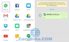 Cara Kirim Aplikasi Lewat BBM, WhatsApp dan LINE