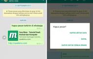 Cara Hapus Pesan WhatsApp Yang Sudah Terkirim