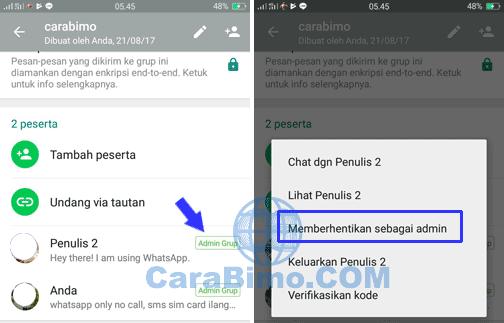 Cara Memberhentikan Admin Grup WhatsApp (Kurangi Admin Grup)