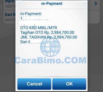 Bayar Angsuran OTO Lewat m Banking BCA