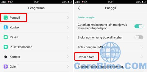 Cara Blokir Nomor di HP OPPO Tanpa Aplikasi (Blokir SMS dan Panggilan)
