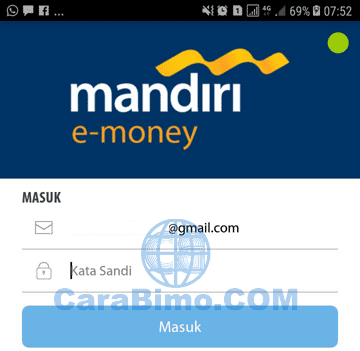 aplikasi mandiri e-money di HP Android