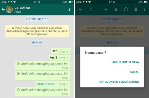 Apakah WhatsApp Tambah Waktu Hapus Pesan Untuk Semua Orang?