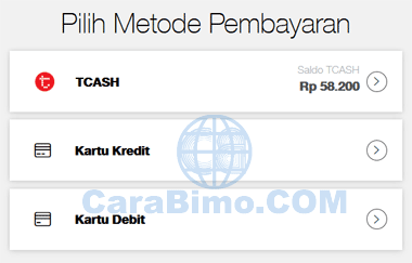 Isi Pulsa atau Paket Data Di MyTelkomsel Bayar Pakai TCASH