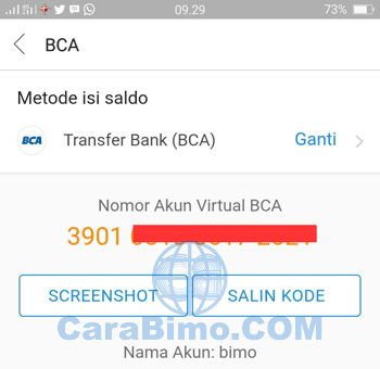 Top Up DANA Beta BBM Via Transfer Bank (BCA)