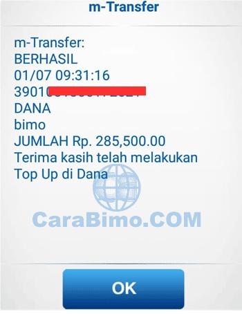 Cara Transfer ke DANA BBM via BCA Mobile
