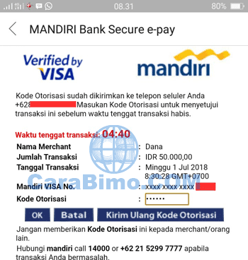 top up bbm dana via mandiri
