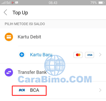 Cara Top Up DANA Beta BBM Via Transfer Bank (BCA)