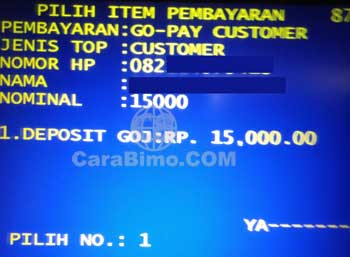 top up go-pay lewat mandiri