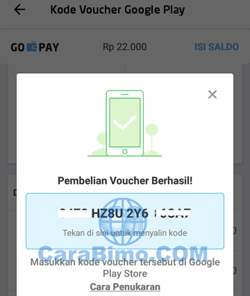 kode voucher Google Play Store