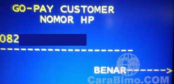 Masukan nomor HP akun Go-PAY
