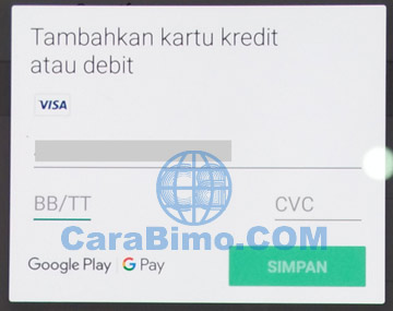 Cara Membeli Aplikasi di Google Play Store Dengan Kartu Debit BTN