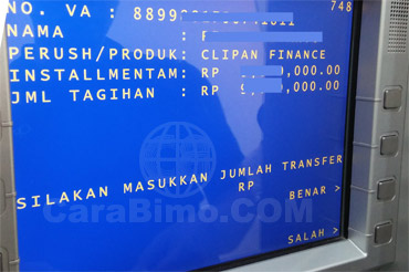 Cara Pembayaran Clipan Finance Via ATM BCA