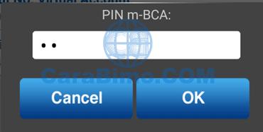 masukan pin M-BCA lalu