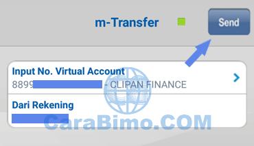 Masukan nomor virtual account clipan finance