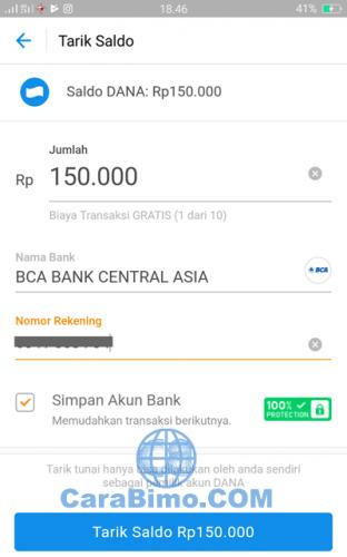 Cara Tarik Saldo Aplikasi Dana Ke Rekening Bank